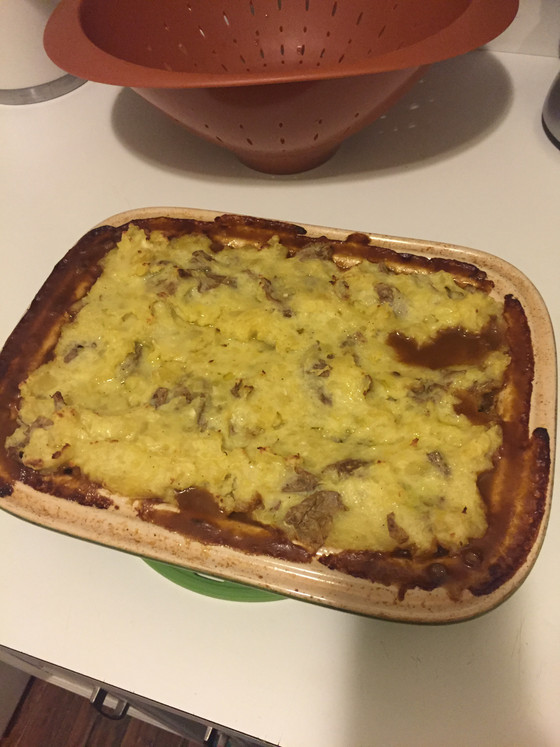 Vegetarian Sheperd's Pie with Lentils