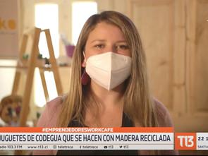 Los juguetes de Codegua que se hacen con madera reciclada | Reportaje T13