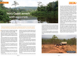 Ivory Coast is the next country on the line for an exploration boom in the mineral sector