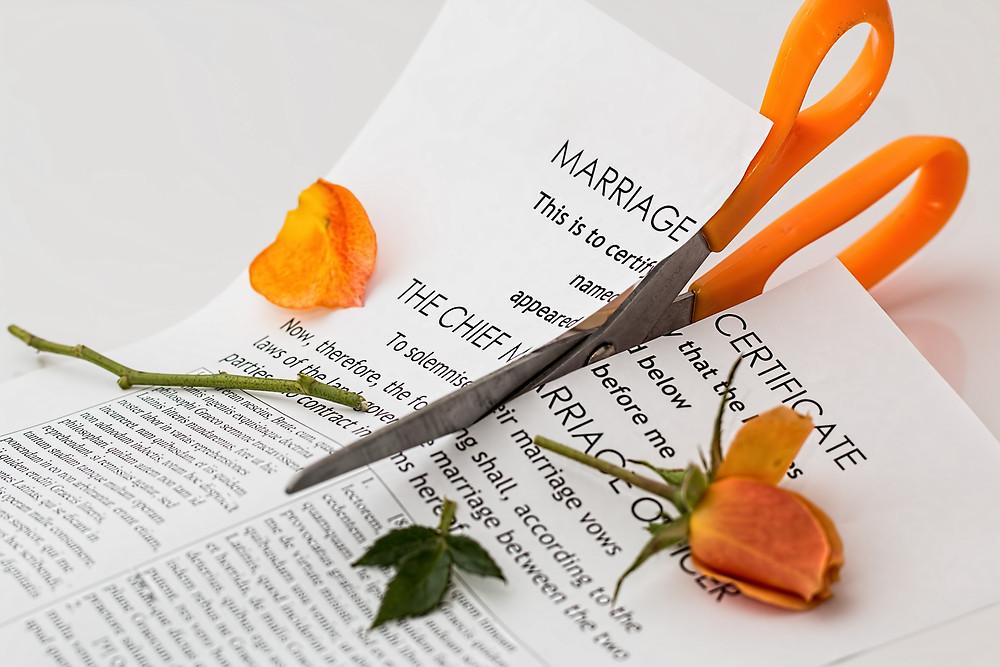 Separazione e divorzio: la crisi del matrimonio