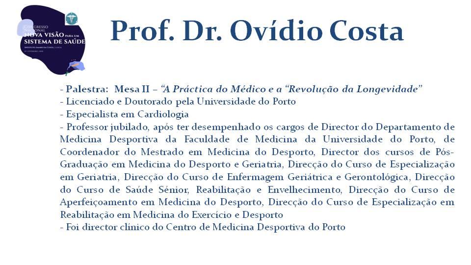Prof. Dr. Ovídio Costa