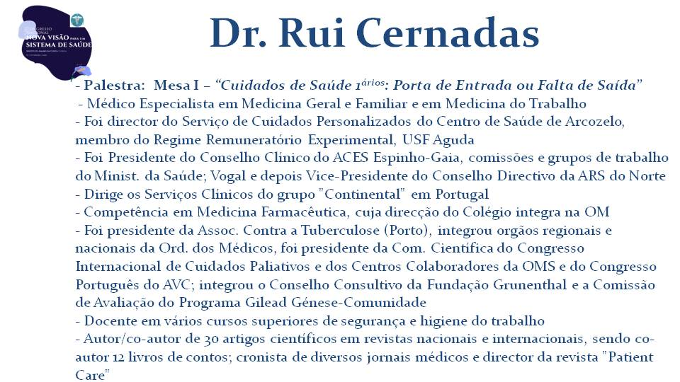 Dr. Rui Cernadas