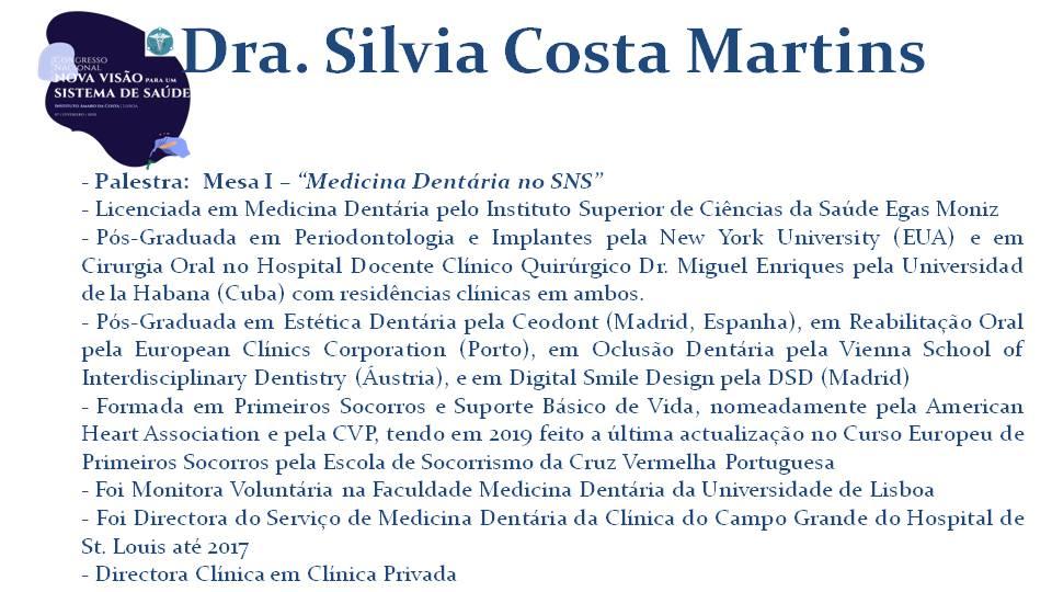Dra. Silvia Costa Martins