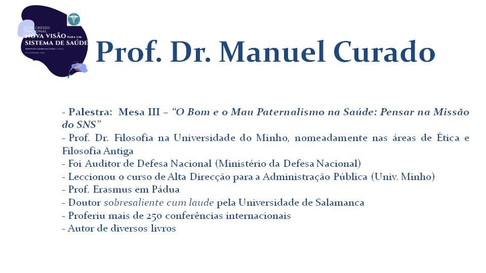 Prof. Dr. Manuel Curado