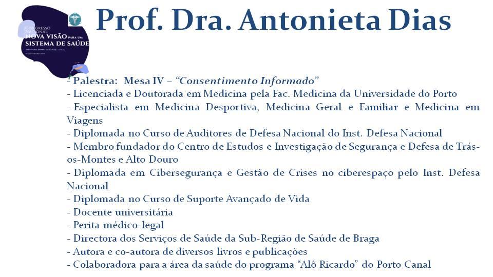 Prof. Dra. Antonieta Dias