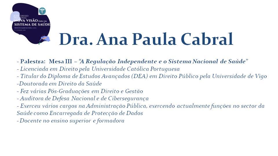 Dra. Ana Paula Cabral