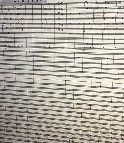 Petit extrai d'une des pièces symphoniques pour Montélimar