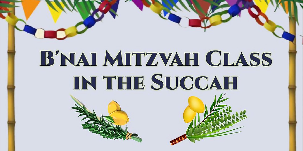 B'nai Mitzvah Class in the Succah
