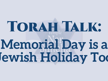 Memorial Day is a Jewish Holiday Too