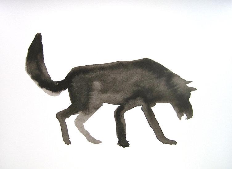 Frank Jan v. d. Laan, WOLF 1, 2013, 32 x 43 cm.
