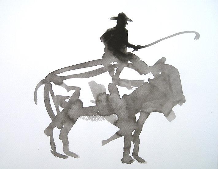 Frank Jan v. d. Laan, BISON, 2013, 30 x 40 cm.