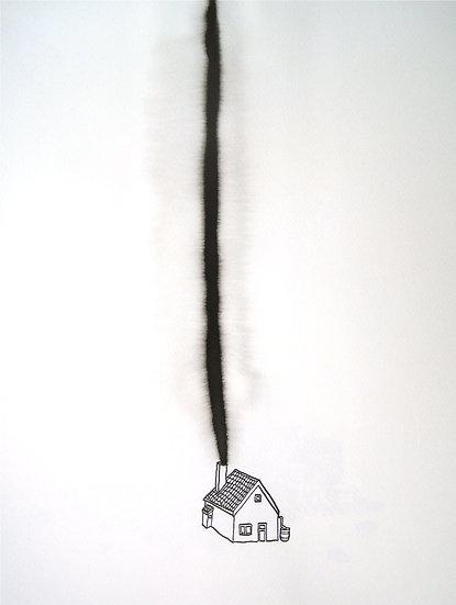 Frank Jan v. d. Laan, HUIS 2, 2013, 40 x 30 cm