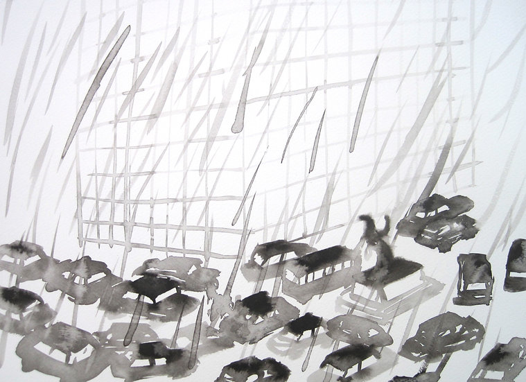 Frank Jan v. d. Laan, STAD 2, 2013, 30 x 40 cm.