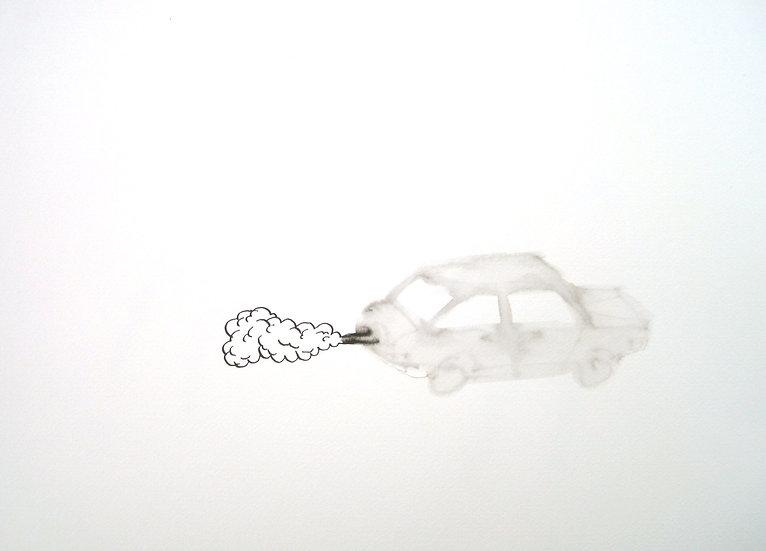 Frank Jan v. d. Laan, AUTO 1, 2013, 30 x 40 cm.