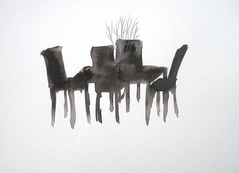Frank Jan v. d. Laan, TAFEL 1, 2013, 30 x 40 cm.