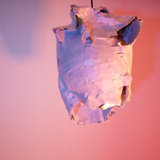 Found used paper, lights