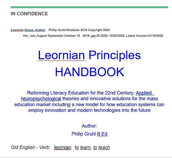 Leornian Principles Handbook Book Cover