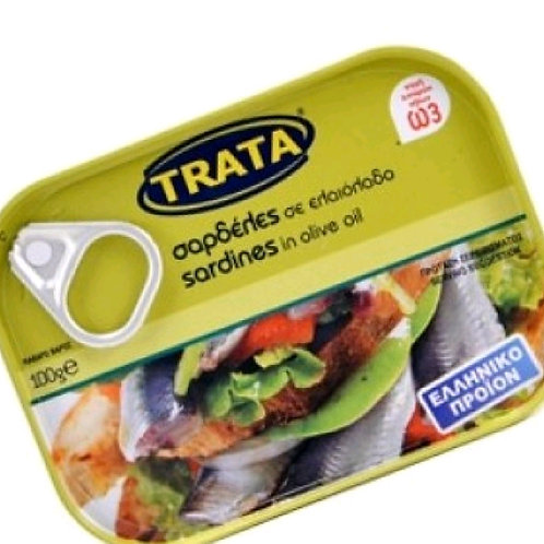 Ready meals- Sardines in olive oil 100gr Trata