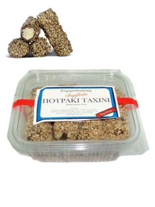 Tahini cream filled wafer rolls 280gr Vomvila