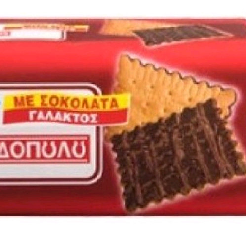 Petit-Beurre Biscuits Papadopoulou with chocolate coating 225gr