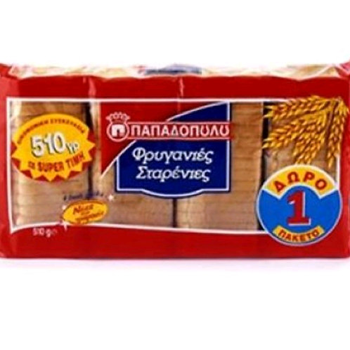Thin Wheat Rusks Papadopoulou 510gr - Friganies Starenies