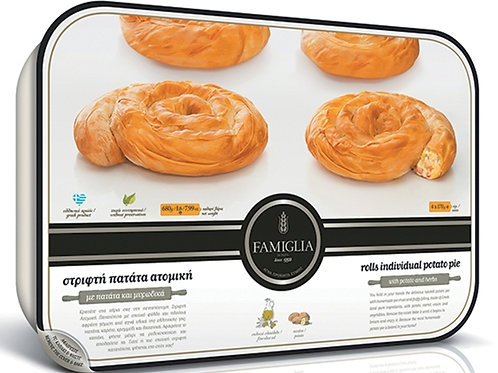 MINI TWIST PATATOPITA 4pcs - Potato and Herbs Pie 680gr