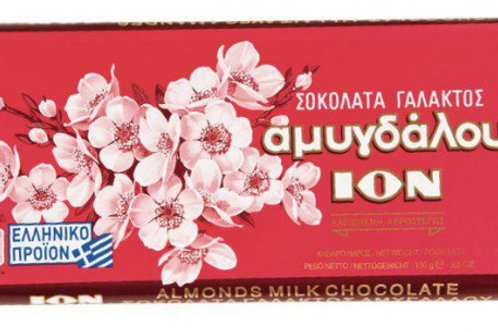 ION Amigdalou - MiIk Chocolate with almonds 100gr