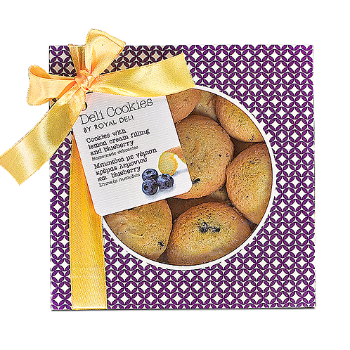 COOKIES - Lemon cream & blueberry filled cookies 300gr