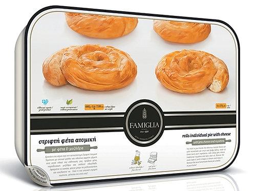 MINI TWIST TIROPITA 4pcs - Feta Cheese Pie 680gr