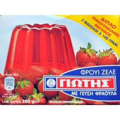 Fruit Zele Strawberry 200gr Yiotis