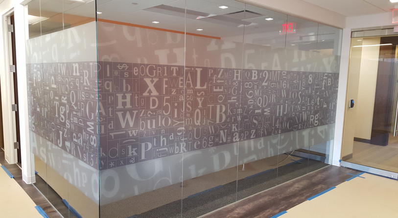 printed frosted window film