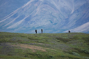 Backpacking in the Alaskan wilderness