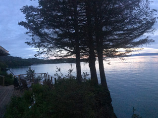 View from the rustic cabin rentals at Halibut Cove Cliffside Cottages