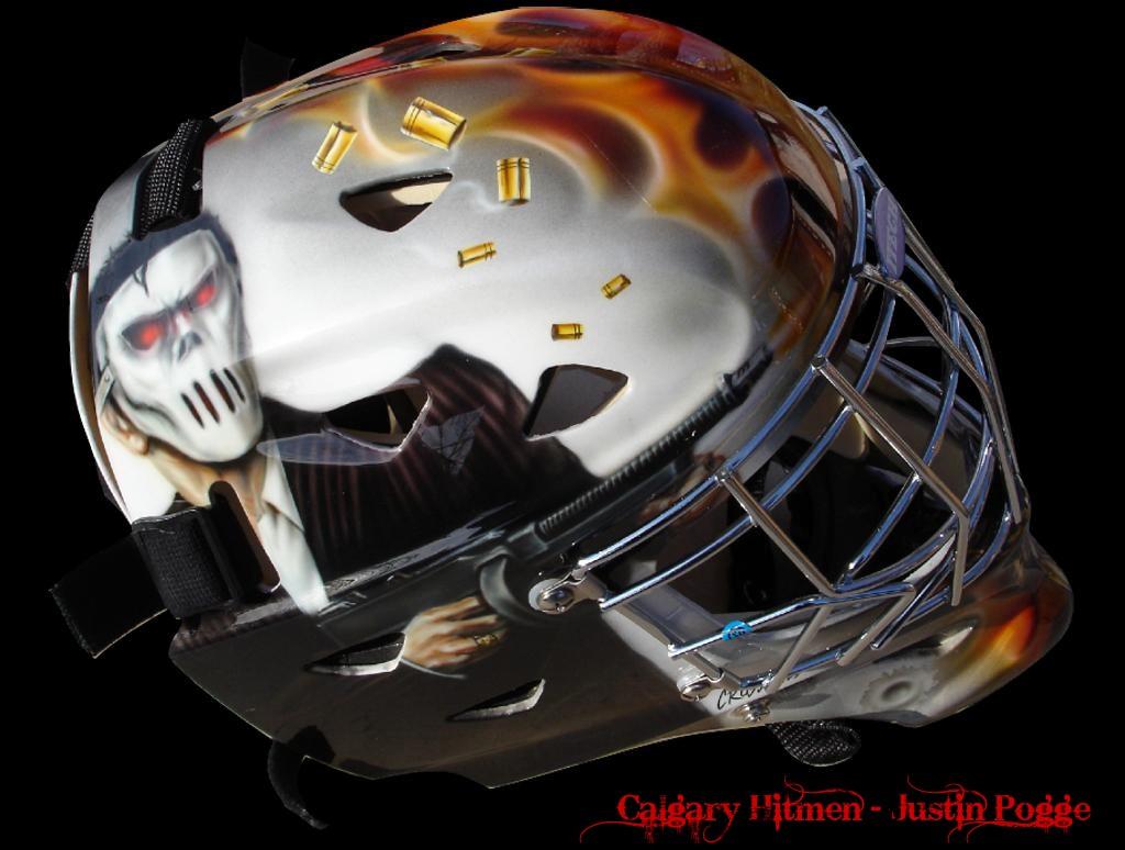 Justin Pogge Calgary Hitmen Mask