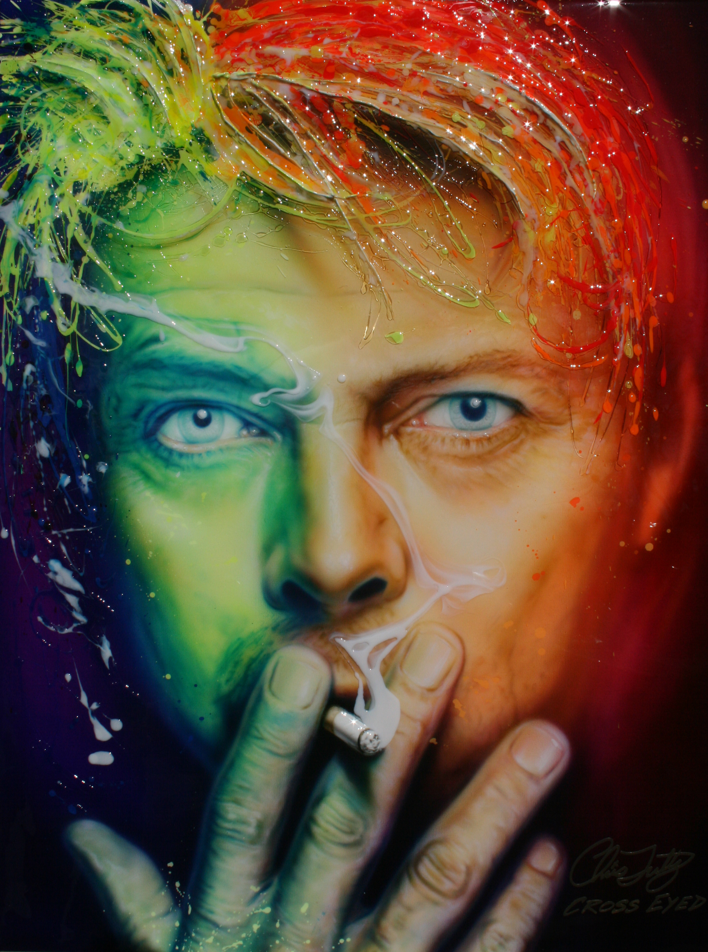 NEON ICON SERIES-SMOKIN BOWIE
