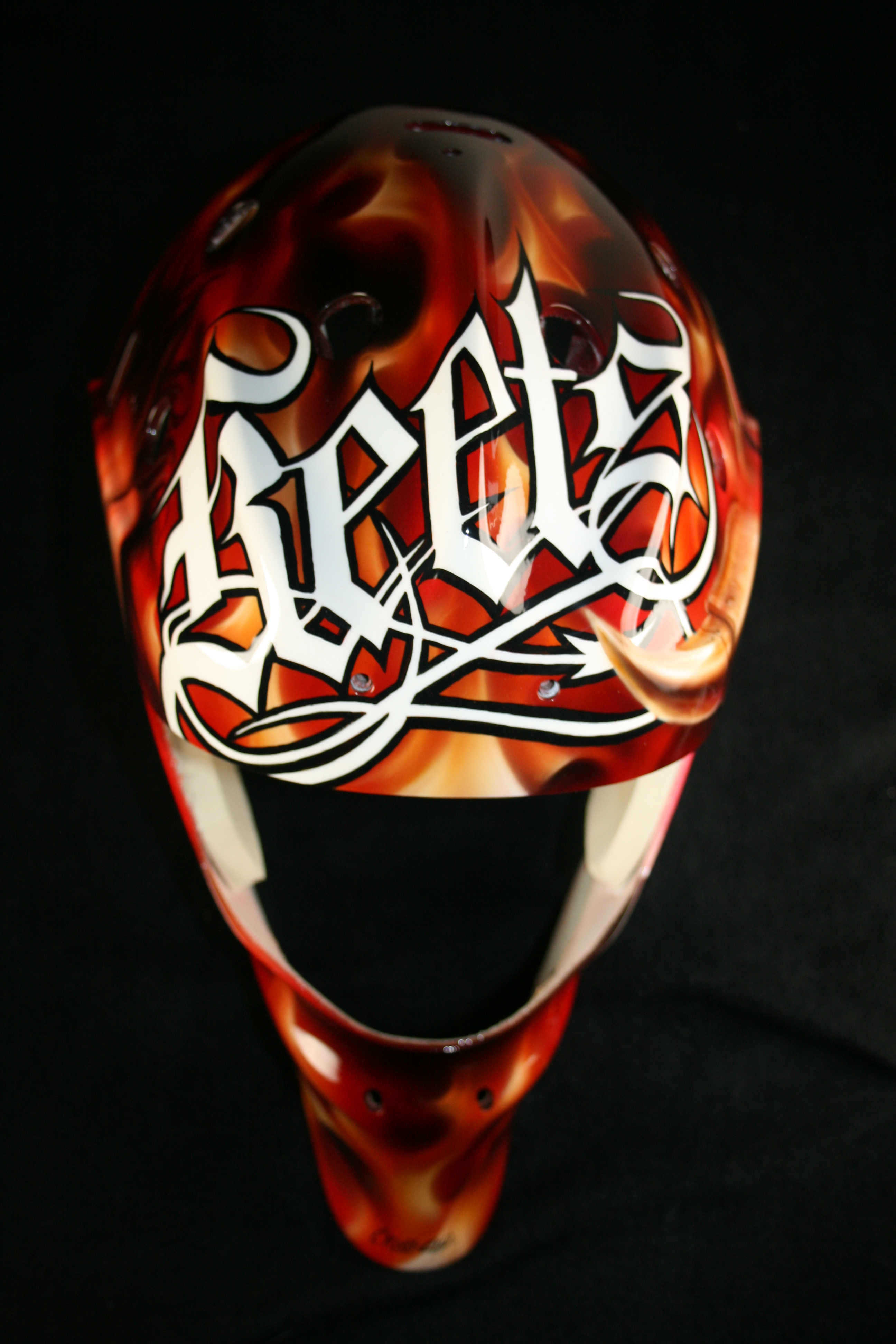 Matt Keetley Calgary Flames Devil 3