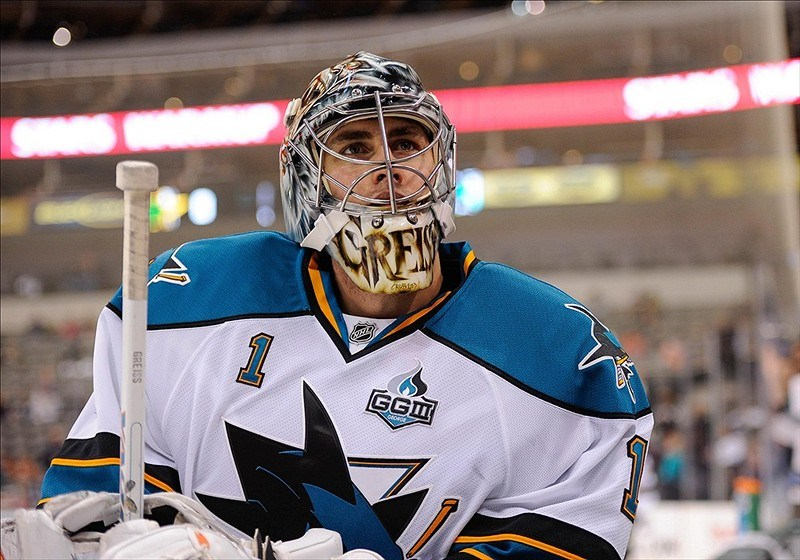 Thomas Greiss San Jose Sharks 0 (2)