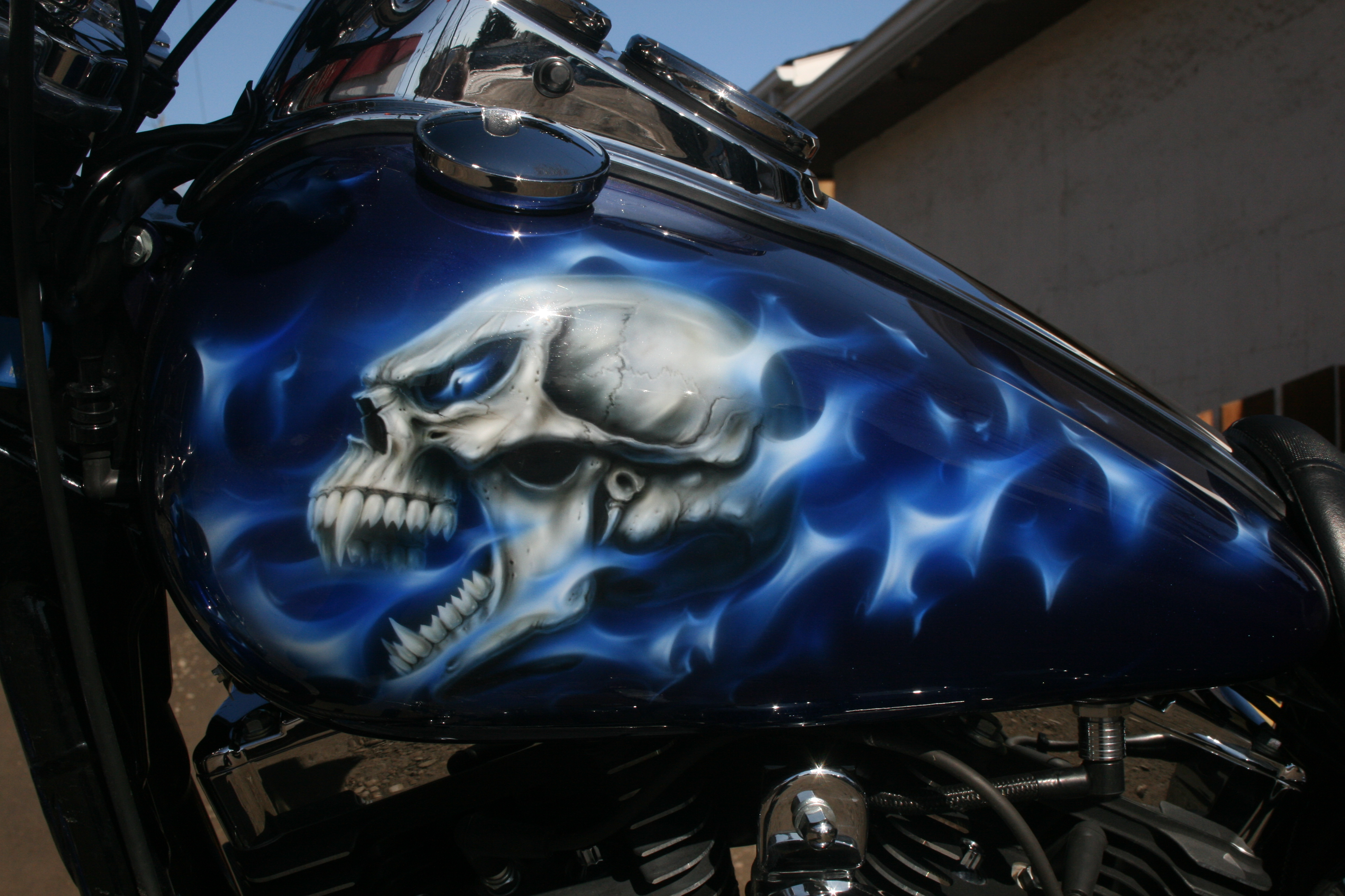 SKULL IN BLUE FIRE