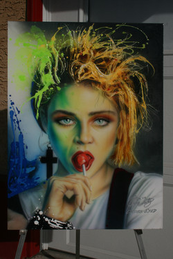 NEON ICON SERIES-MADONNA-WITH RESINS