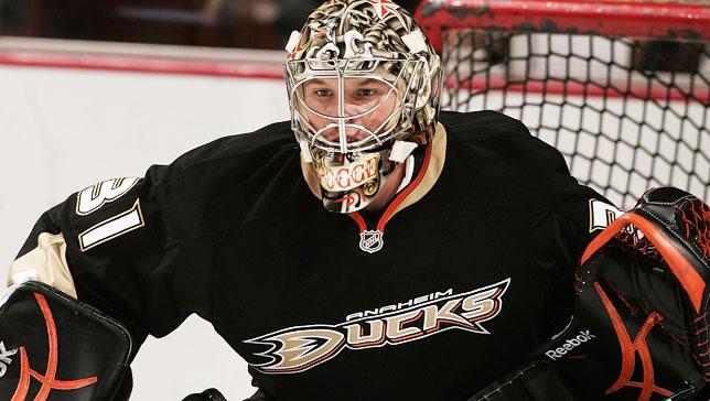 Justin Pogge Anaheim Ducks 4