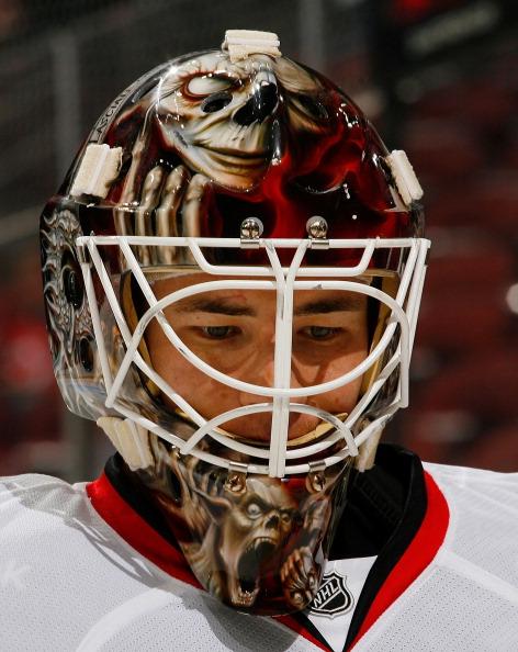 Curtis McElhinney Calgary Flames 5