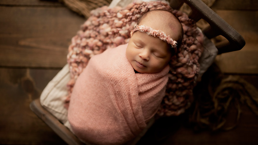 mauve dusty pink newborn