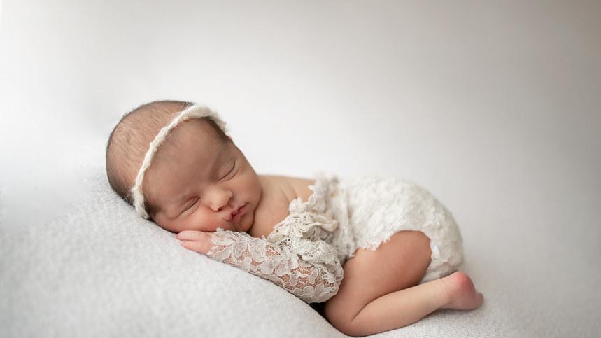 baby girl cream photo
