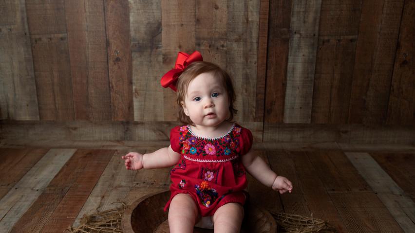 baby girl milestone studio