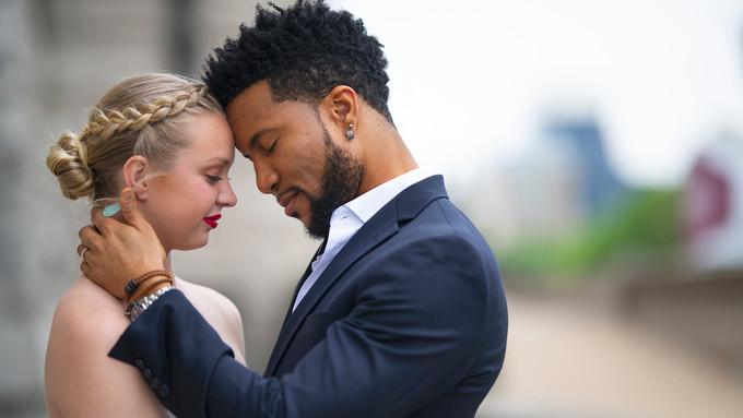 wedding couple intimate