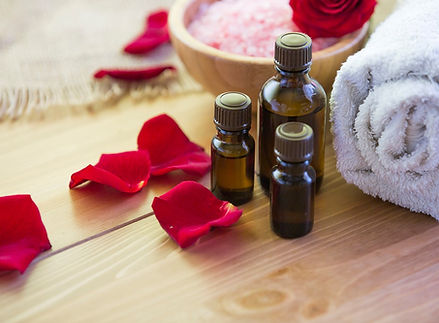 Rose pedals and oils at spa.jpg