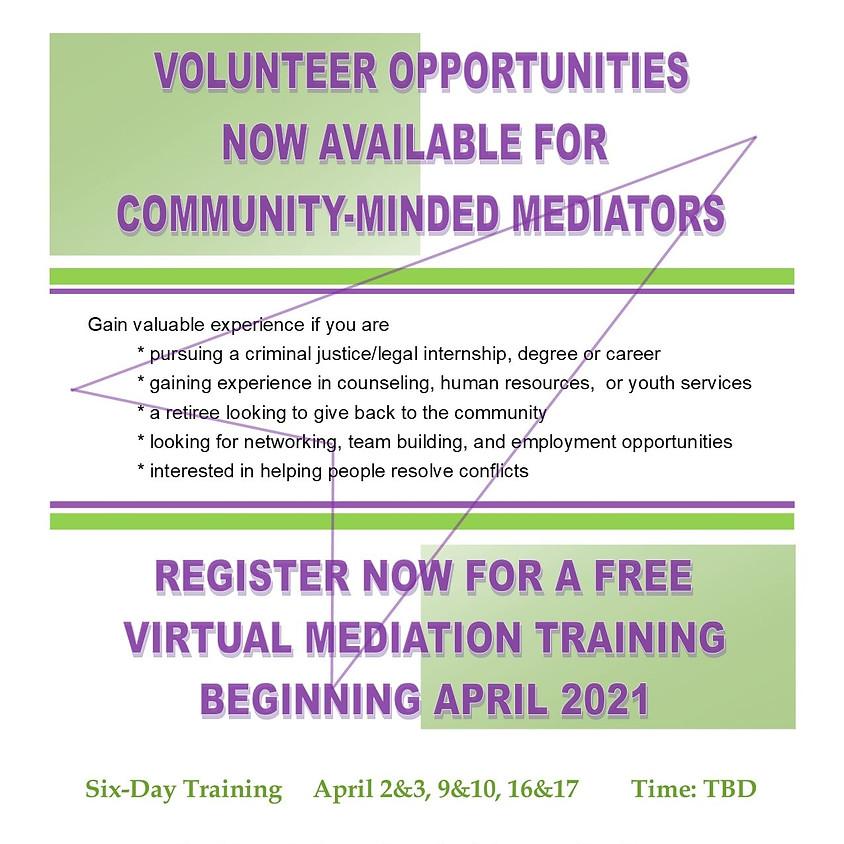 Mediation Training for Volunteers