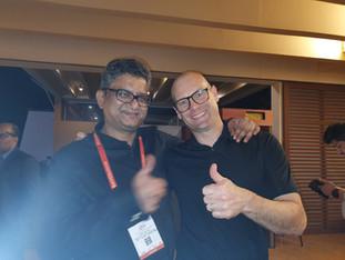 Samir Dahotre with Charles Owen
