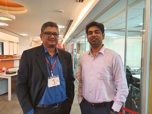 Samir Dahotre with Rohit Pandharkar