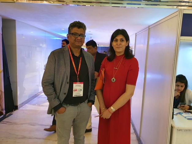 Samir Dahotre with Ritu Marya, Entrepreneur, Asia Pacific